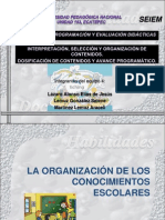 Organización de Los Conocimientos Escolares 2