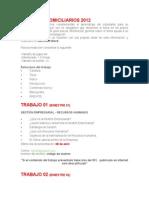 Trabajos Domiciliarios 2012