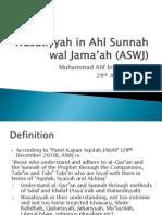 Wasatiyyah in Ahl Sunnah Wal Jama'Ah (ASWJ