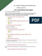 evaluating a website- geo