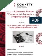 Samouczek Excel - Funkcje Wyszukiwania i Odwołań.pptx