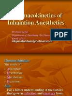 Pharmacokinetics of Inhalation Anesthetics