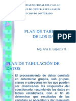 Clase Clase Plan de Tabulacion de Los Datos