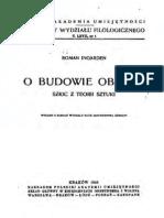 Roman Ingarden O Budowie Obrazu Ok