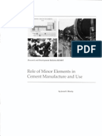 Role of Minor Elements in Cement Manuf and Use
