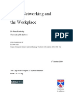 Social Networking and the Workplace