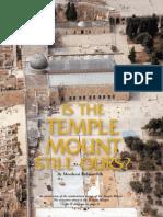 Temple Mount by Rabbi Mordechai Rabinovitch