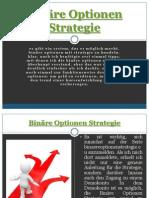 Binäre Optionen Strategie