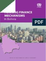 Housing Finance Mechanisms in Bolivia