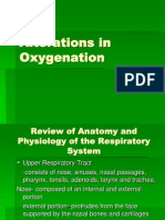 Alterations in Oxygenation