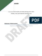 SWA Draft Australian Work Health and Safety Strategy 2012-2022