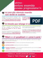 Tract - Etats généraux «Inventons ensemble le nouveau progressisme»