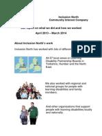 Inclusion North CIC Annual Report 13-14 v7 07.08.14
