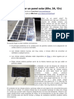 Construccion de Panel Solar