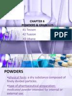 PHARDOSE REPORT- Powders and Granules