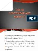 Csr and Society