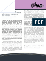 Assessing the Strategic Implications of the Pacific Island Development Forum (PIDF)