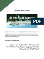 Blessings of Jannah