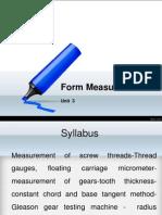 Form Measurement