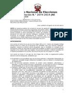 Vea la resolución que el JNE le da luz verde a Luis Cáceres