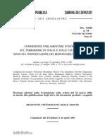 COMMISSIONE PARLAMENTARE D'INCHIESTA SUL TERRORISMO IN ITALIA E SULLE CAUSE DELLA MANCATA INDIVIDUAZIONE DEI RESPONSABILI DELLE STRAGI - Xxiii n. 64 Vol II Tomo IV