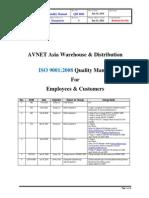 Asia Whse Disti Quality Manual QM6001rev6