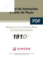 Manual-singer-costura Reta Industrial 191d