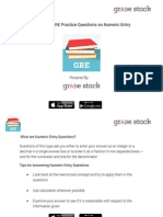 GRE Numeric Entry Tips & Questions