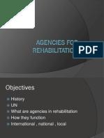 History - Agencies for Rehabilitation