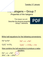 The Halogens – Group 7