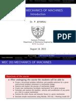 Mechanics of Machines Intro