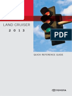 TOYOTA Owners Manual LandCruiser 2013