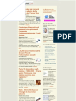 Essentiel de la presse et des relations presse du 9 décembre 2009