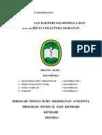 Laporan Praktikum Mikrobiologi Makanan