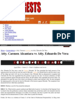 Atty. Carmen Alcantara vs Atty. Eduardo De Vera | Uber Digests