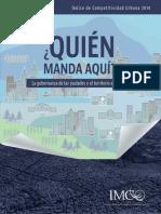 Indice de Competitividad Urbana 2014