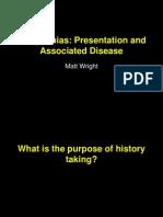 Presentation of Cardiac Arrhythmias