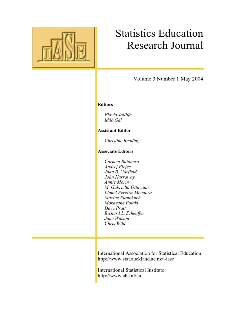 statistic education research journal cronbach s alpha anxiety