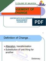 management of change