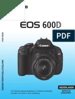 EOS 600D Instruction Manual NL