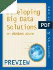 Developing Big Data Solutions on Windows Azure