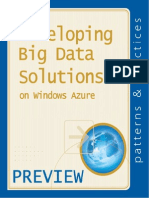 Developing Big Data Solutions on Windows Azure