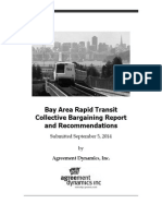 BART Collective Bargaining Report and Recommendations