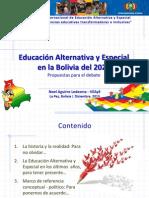 CBBA-InAUGURACION- Noel Aguirre-Viceministro de Educacin Alternativa y Especial