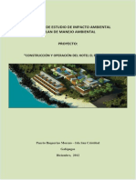 Hotel El Paraiso II - Approvals - Extracts from Environmental Impact Study - Dec 2012