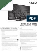 Vizio E601i-A3 & E701i-A3 Quick Start Guide
