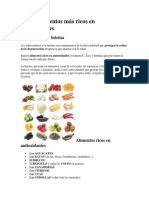 Los 10 Alimentos Más Ricos en Antioxidantes