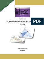 Triangulo Ortico-recta de Euler