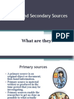 primary and secondary documents