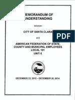 AFSCME Local 101/Santa Clara MOU 12-23-2013 thru 12-20-2014